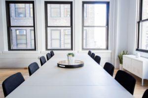 Office based working. Board room