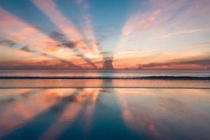 Beach sunset. Major goal